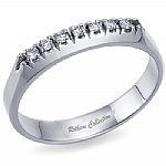 Affordable 7 Stone Diamond Anniversary Band 0.10 ct.tw