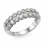 2 Rows Flower Diamond Band 0.68 ct.tw