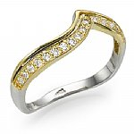 Affordable Two Tone Diamond Band 0.20 ct.tw